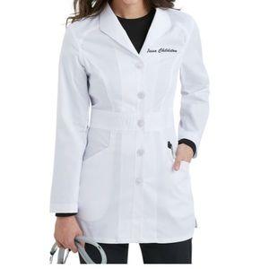 Landau White Coat Scrub Lab Jacket Size XS